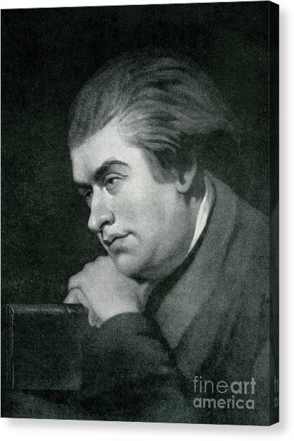 Baroque Canvas Print - Samuel Johnson  Portrait by George Zobel