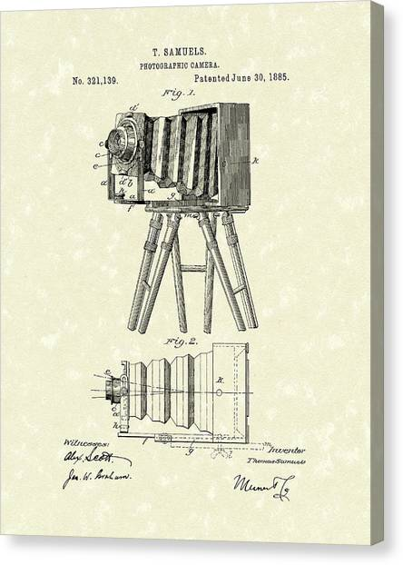 Samuels Photographic Camera 1885 Patent Art Canvas Print