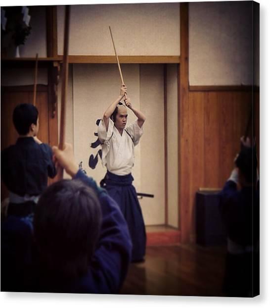 Samurai Canvas Print - #samurai ( #侍 ) Class At #nikko ( by Kenichi Iwai