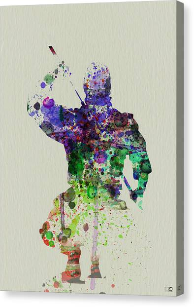 Eastern Canvas Print - Samurai by Naxart Studio
