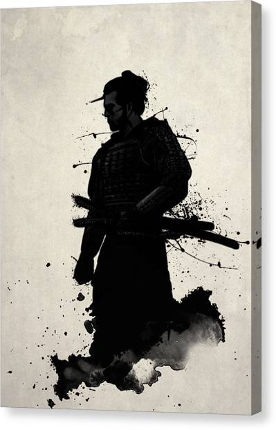 Ancient Art Canvas Print - Samurai by Nicklas Gustafsson