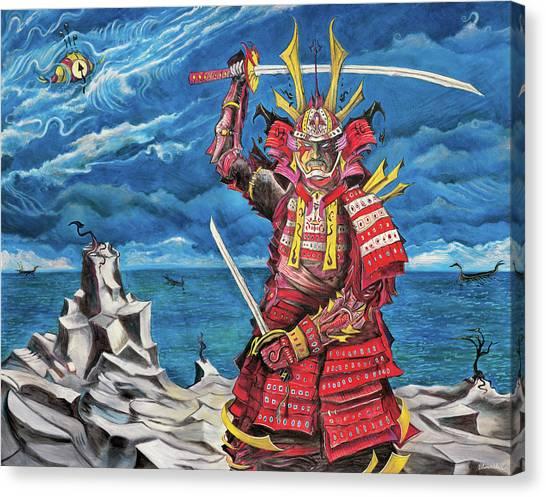 Samurai Sin-mint Canvas Print