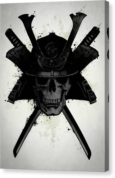 Samurai Canvas Print - Samurai Skull by Nicklas Gustafsson