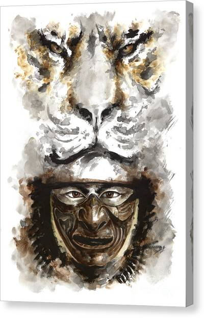 The Tiger Canvas Print - Samurai - Warrior Soul. by Mariusz Szmerdt