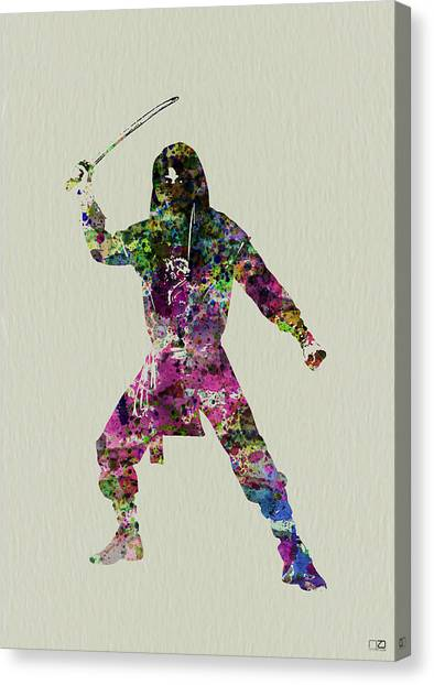 Costume Canvas Print - Samurai With A Sword by Naxart Studio