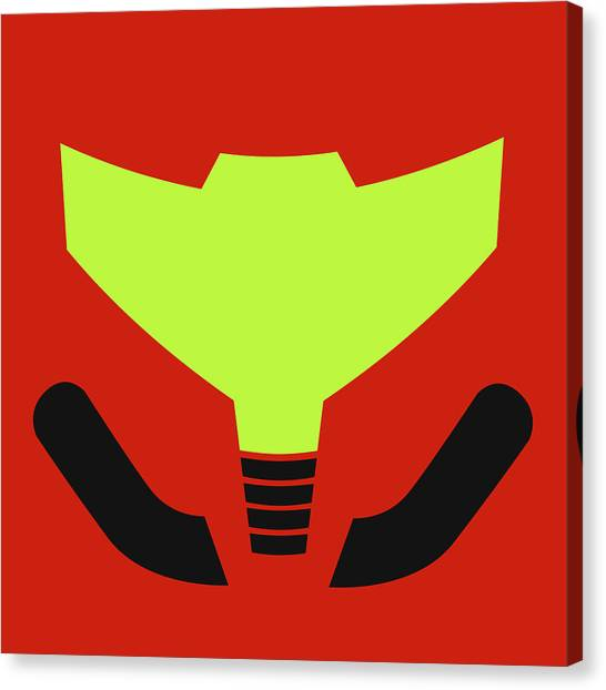 Metroid Canvas Print - Samus' Visor by Krls