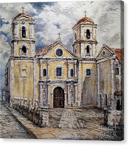 San Agustin Church 1800s Canvas Print