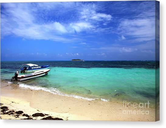 San Andres Island Canvas Print by John Rizzuto