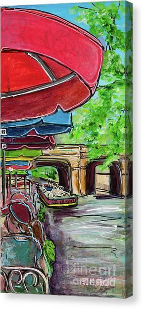 San Antonio River Walk Cafe Canvas Print