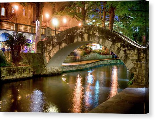 San Antonio River Walk V1 Canvas Print