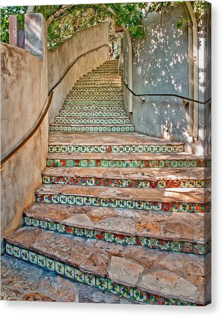 San Antonio Riverwalk Stairway Canvas Print