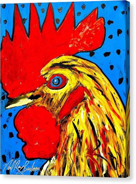 San Antonio Rooster Canvas Print