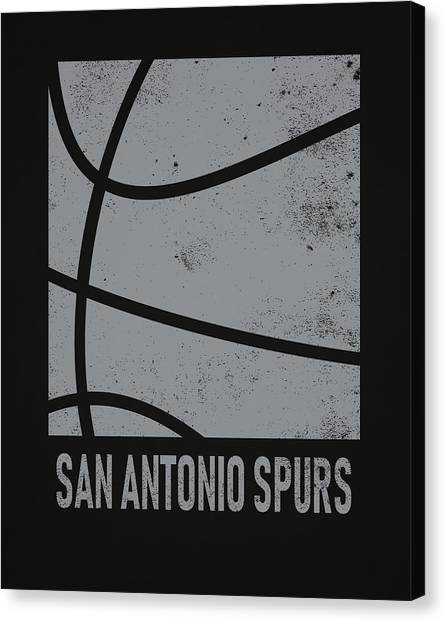 Spurs Canvas Print - San Antonio Spurs City Poster Art 2 by Joe Hamilton