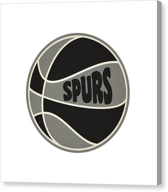 Spurs Canvas Print - San Antonio Spurs Retro Shirt by Joe Hamilton