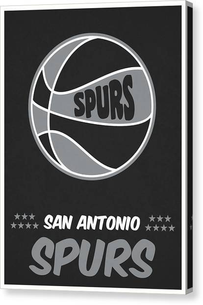 Spurs Canvas Print - San Antonio Spurs Vintage Basketball Art by Joe Hamilton