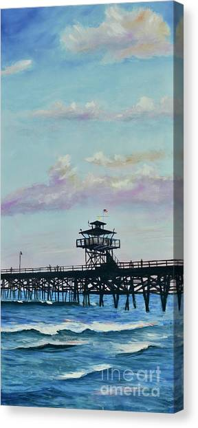 Canvas Print featuring the painting San Clemente Evening by Mary Scott