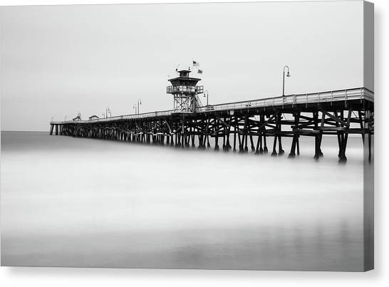 Canvas Print featuring the photograph San Clemente Pier by Tassanee Angiolillo