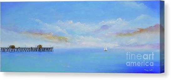 Canvas Print featuring the painting San Clemente Sail by Mary Scott