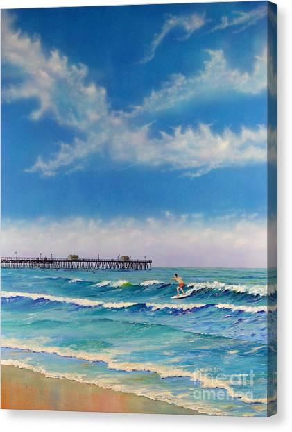 San Clemente Surf Canvas Print