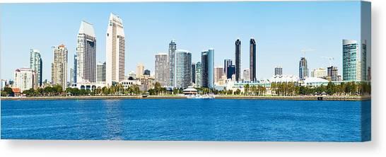 San Diego Cityscape Panorama Canvas Print