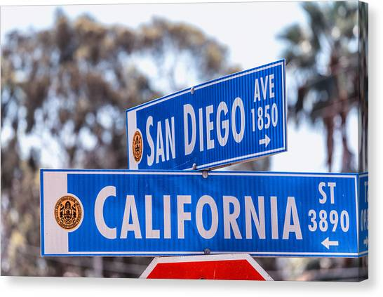 San Diego Crossing Over California Canvas Print
