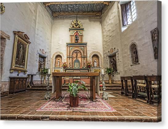 Mission San Diego Canvas Print - San Diego De Alcala Altar by Stephen Stookey