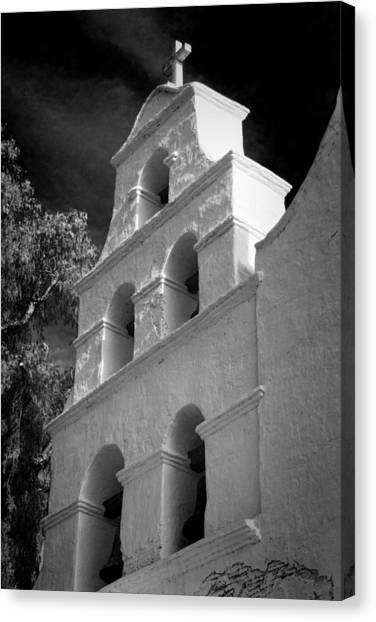 Mission San Diego Canvas Print - San Diego De Alcala Campanario by Stephen Stookey