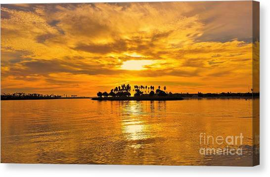 San Diego Golden Sky By Jasna Gopic Canvas Print