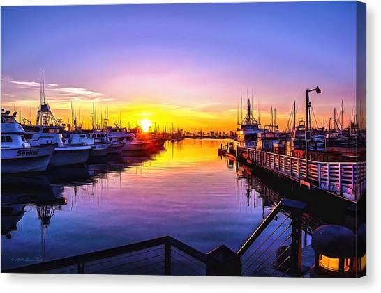 San Diego Harbor Sunrise Canvas Print