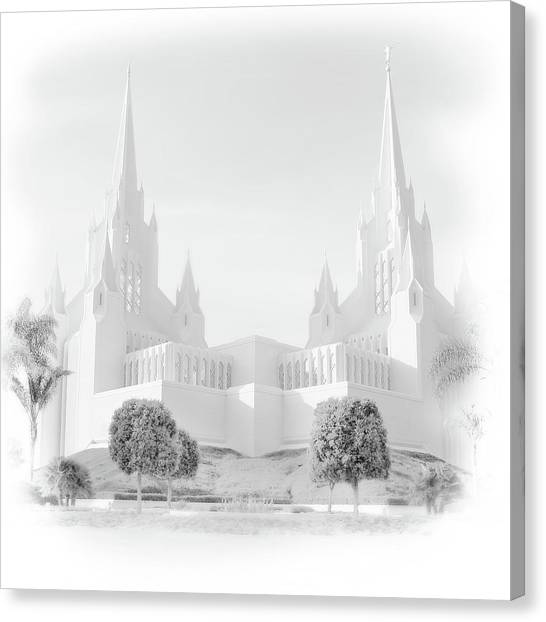 San Diego Lds Temple Canvas Print