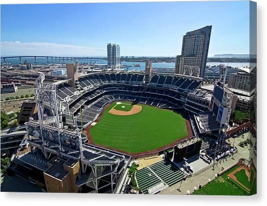 San Diego Padres Canvas Print - San Diego Padres Baseball Stadium by Daniel Hagerman