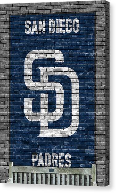 San Diego Padres Canvas Print - San Diego Padres Brick Wall by Joe Hamilton