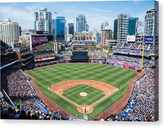San Diego Padres Canvas Print - San Diego Padres by Robert VanDerWal