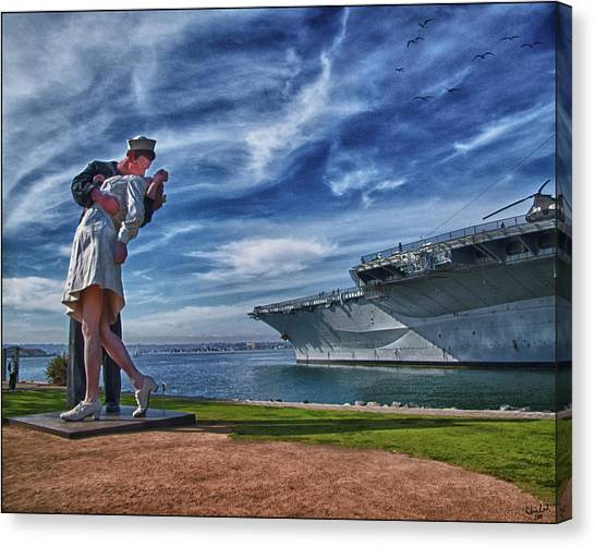 San Diego Sailor Canvas Print