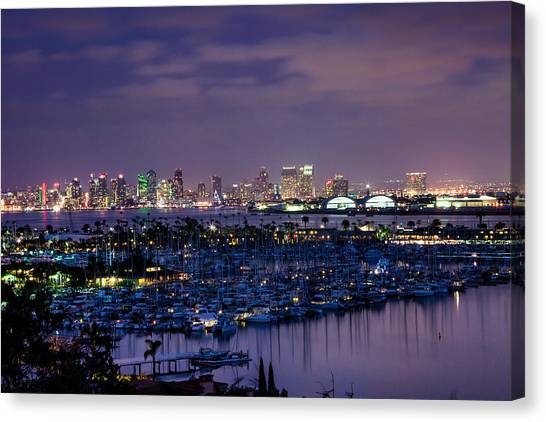 San Diego Skyline 4 Canvas Print