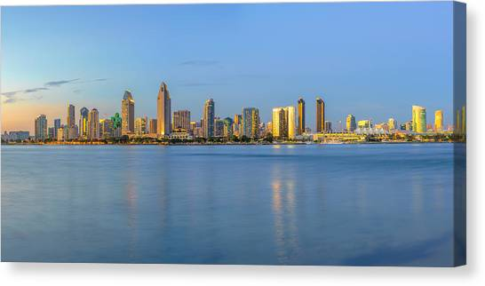 San Diego Skyline At Dusk Canvas Print
