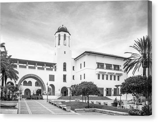 Graduate Degree Canvas Print - San Diego State University Campus Center by University Icons