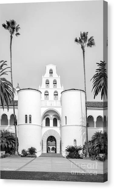 Graduate Degree Canvas Print - San Diego State University Hepner Hall Vertical by University Icons