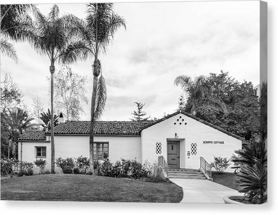 Graduate Degree Canvas Print - San Diego State University Scripps Cottage by University Icons