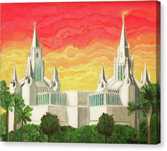 San Diego Temple Canvas Print