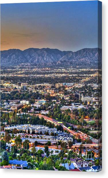 San Fernando Valley Vertical Canvas Print