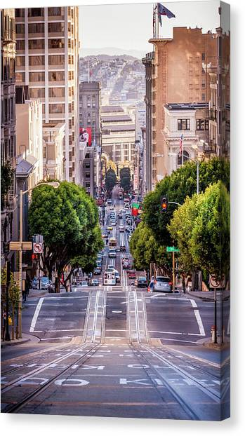 San Fran Cable Car Canvas Print
