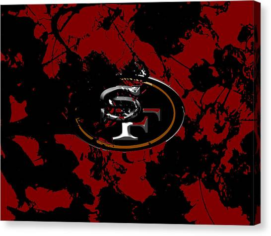 Jerry Rice Canvas Print - San Francisco 49ers 1b by Brian Reaves