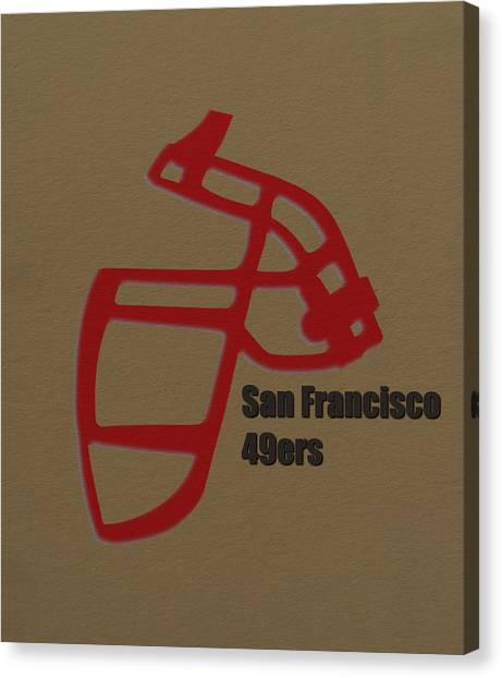 San Francisco 49ers Canvas Print - San Francisco 49ers Retro by Joe Hamilton