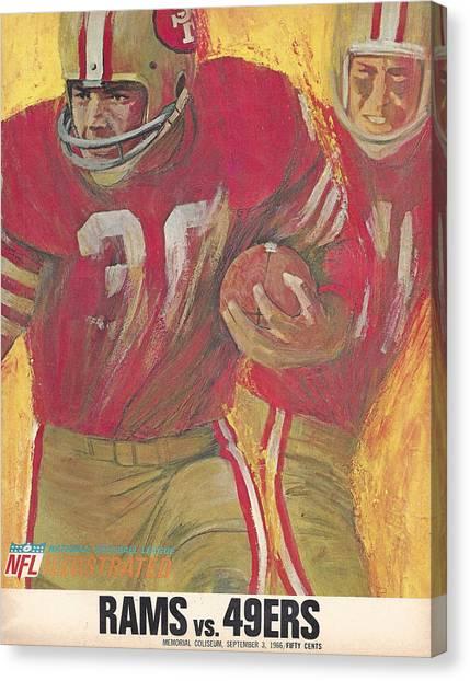 San Francisco 49ers Canvas Print - San Francisco 49ers Vintage Program 2 by Joe Hamilton