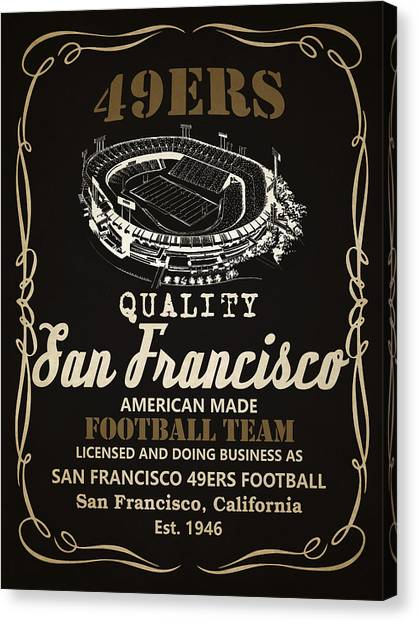San Francisco 49ers Canvas Print - San Francisco 49ers Whiskey 2 by Joe Hamilton