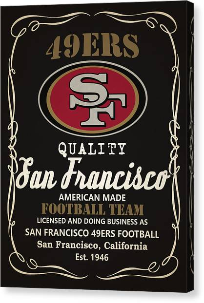 San Francisco 49ers Canvas Print - San Francisco 49ers Whiskey by Joe Hamilton