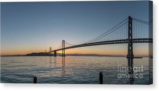 San Francisco Bay Brdige Just Before Sunrise Canvas Print