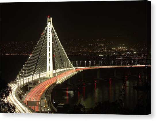 San Francisco Bay Bridge New East Span Canvas Print