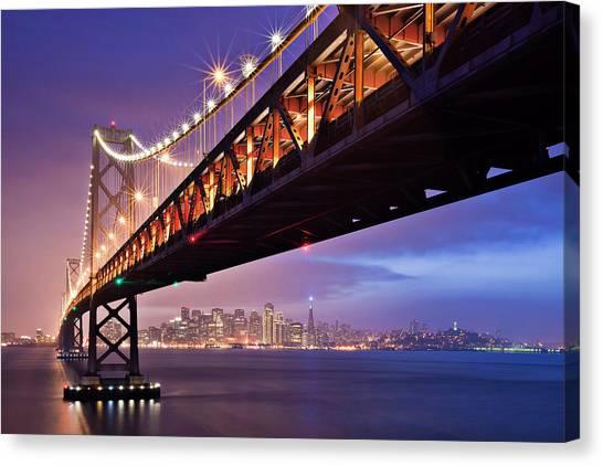 San Francisco Canvas Print - San Francisco Bay Bridge by Photo by Mike Shaw
